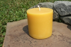 "3"" Round candle....$10.50 each...burn time 30 hours"