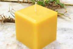 "Square 3"" beeswax candle.....$15 each...burn time 50+ hours"